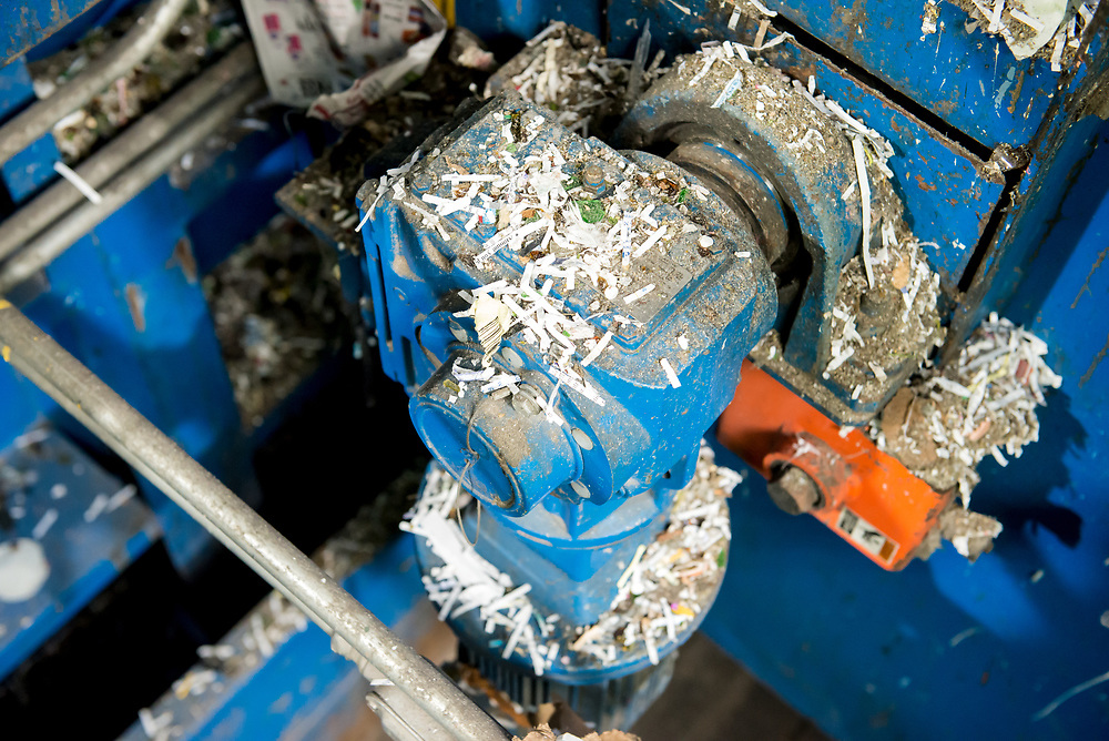 Shredded paper accumulates on every flat surface in the MRF.