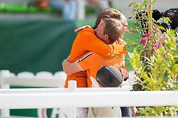 Jeroen Dubbeldam and Gerco Schroder - Show Jumping Final Four - Alltech FEI World Equestrian Games™ 2014 - Normandy, France.<br /> © Hippo Foto Team - Jon Stroud<br /> 07/09/2014