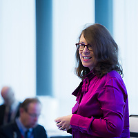 """Brussels, Belgium - 25 September 2017<br /> """"The Future of Finances"""" conference.<br /> Moderator Claire Doole.<br /> Photo: European Commission / Ezequiel Scagnetti"""