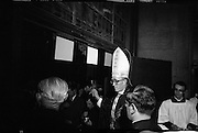 Archbishop Ryan Installed as Archbishop of Dublin..1972..27.02.1972..02.27.1972..27th February 1972..The installation of the Most Rev Dr Dermot Ryan as Archbishop of Dublin took place in The pro Cathedral,Dublin on Sunday 27th Feb 1972...Dublin's New Archbishop,Dr Dermot Ryan,pictured making his way to his seat on the alter of the Pro Cathedral.