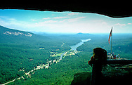 view of Lake Lure from Chimney Rock Park, North Carolina