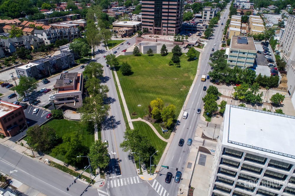 Proposed site of 47 Main development by Block Real Estate & NSPJ Architects near Country Club Plaza in Kansas City, Missouri.