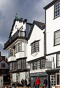Mol's coffee house building, Tudor architecture 1596, Cathedral Close, Exeter, Devon, England, UK