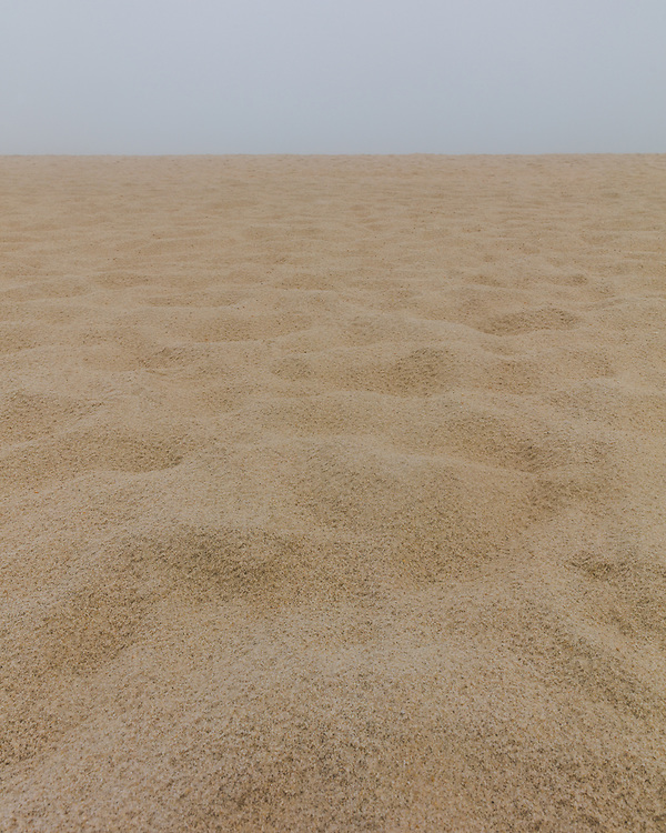 The countless grains of sand making up the flowing beach landscape at Nantucket's Surfside Beach.