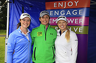Leona Maguire (IRL) Maria Dunne and Stephanie Meadow (NIR)at the Golf4Girls4Life festival at the ISPS Handa World Invitational, Galgorm Castle Golf Club, Ballymena, Antrim, Northern Ireland. 14/08/2019.<br /> Picture Fran Caffrey / Golffile.ie<br /> <br /> All photo usage must carry mandatory copyright credit (© Golffile   Fran Caffrey)