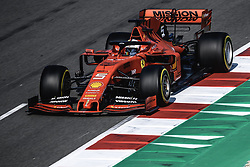 March 1, 2019 - Barcelona, Catalonia, Spain - SEBASTIAN VETTEL (GER) from team Ferrari drives in his SF90 during day eight of the Formula One winter testing at Circuit de Catalunya (Credit Image: © Matthias OesterleZUMA Wire)