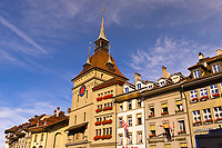 The Prison Tower (Kafigturm) on Barenplatz, Bern, Canton Bern, Switzerland