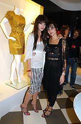 Left to right, DAISY LOWE and her mother PEARL LOWE at a party to celebrate the opening of PPQ Mayfair at 47 Conduit Street, London W1 on 18th September 2006.<br />