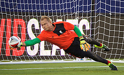 SANTA CLARA, USA - Friday, July 29, 2016: Liverpool's goalkeeper Alex Manninger during a training session ahead of the International Champions Cup 2016 game against AC Milan on day nine of the club's USA Pre-season Tour at the Levi's Stadium. (Pic by David Rawcliffe/Propaganda)