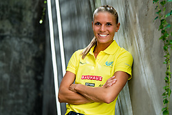 August 6, 2018 - Berlin, GERMANY - 180806 Lisa Christin Linnell of Sweden poses for a portrait during a press event ahead of the European Athletics Championships on August 6, 2018 in Berlin..Photo: Vegard Wivestad Grøtt / BILDBYRÃ…N / kod VG / 170194 (Credit Image: © Vegard Wivestad GrØTt/Bildbyran via ZUMA Press)