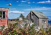 Lobster shed, Jonesport, Maine, USA