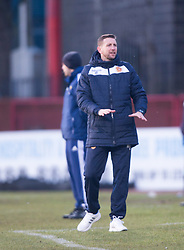 Motherwell's manager Ian Baraclough.<br /> Dundee 4 v 1 Motherwell, SPFL Premiership played 10/1/2015 at Dundee's home ground Dens Park.