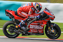 February 6, 2019 - Sepang, SGR, U.S. - SEPANG, SGR - FEBRUARY 06:Andrea Dovizioso of Mission Winnow Ducati Racing Team  in action during the first day of the MotoGP official testing session held at Sepang International Circuit in Sepang, Malaysia. (Photo by Hazrin Yeob Men Shah/Icon Sportswire) (Credit Image: © Hazrin Yeob Men Shah/Icon SMI via ZUMA Press)