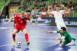 Sergei Abramov of Russia during futsal match between Russia and Poland at Day 1 of UEFA Futsal EURO 2018, on January 30, 2018 in Arena Stozice, Ljubljana, Slovenia. Photo by Ziga Zupan / Sportida