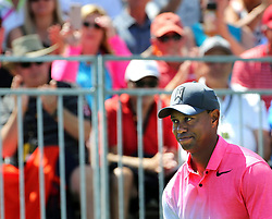March 16, 2018 - Orlando, FL, USA - Tiger Woods responds to fans as he waits to tee off on hole #1 on the second day of the Arnold Palmer Invitational at Bay Hill Friday, March 16, 2018 in Orlando, Fla. (Credit Image: © Joe Burbank/TNS via ZUMA Wire)