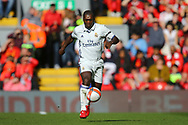 Clarence Seedorf of Real Madrid legends team in action. Liverpool Legends  v Real Madrid Legends, Charity match for the LFC Foundation at the Anfield stadium in Liverpool, Merseyside on Saturday 25th March 2017.<br /> pic by Chris Stading, Andrew Orchard sports photography.
