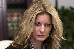 November 11, 2016 - Los Angeles, California, United States - Summer Zervos, a former contestant on the TV show The Apprentice, who previously accused Donald Trump of sexual misconduct, during a press conference in Los Angeles, California on November 11, 2016. (Credit Image: © Ronen Tivony/NurPhoto via ZUMA Press)