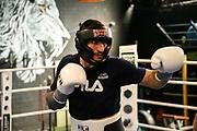 Boxen: Universum Boxpromotion, Training, Hamburg, 16.04.2021<br /> Rostam Ibrahim (GER)<br /> © Torsten Helmke