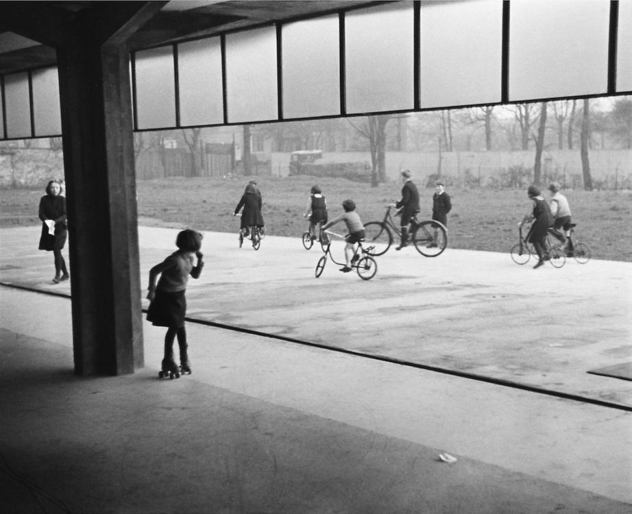 Children on Bicycles at Peckham Health Center, London, c.1935