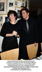 Singer SHARLEEN SPITERI and ASHLEY HEATH at a dinner in London on 25th January 2004.PRA 385
