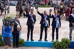 Team NED, Chardon Bram, De Ronde Koos, Chardon IJsbrand<br /> World Equestrian Games - Tryon 2018<br /> © Hippo Foto - Dirk Caremans<br /> 23/09/2018