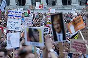 Over a quarter of a million people gathered in Central London to protest Donald Trump's presence in the UK to meet Queen Elizabeth and  Prime Minister Theresa May. London 13th July 2018 — Joana Saramago. // Mais de 250.000 juntaram-se em protesto no centro de Londres contra a visita oficial de Donald Trump ao Reino Unido. Londres, 13 Julho 2018. Joana Saramago.