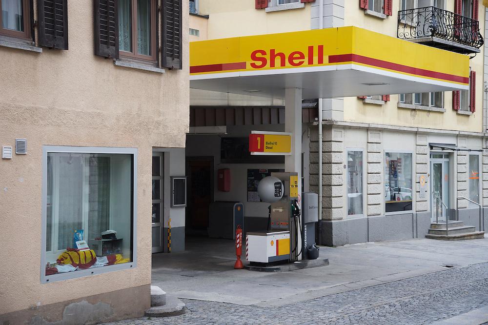 18.08.2016; Andermatt (CH); Tankstelle an der Gotthardstrasse<br /> (Steffen Schmidt)