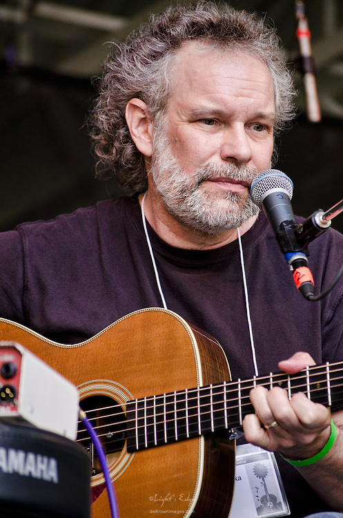 John Gorka playing on The Grove Stage at The Appel Farm's 2011 Arts & Music Festival in Elmer, NJ.