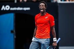 January 17, 2019 - Melbourne, Australia - GAEL MONFILS (FRA) during day three match of the 2019 Australian Open on January 16, 2019 at Melbourne Park Tennis Centre. (Credit Image: © Chaz Niell/Icon SMI via ZUMA Press)