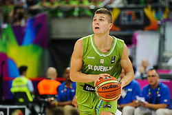 Edo Muric of Slovenia during basketball match between National Teams of Slovenia and Dominican Republic in Eight-finals of FIBA Basketball World Cup Spain 2014, on September 6, 2014 in Palau Sant Jordi, Barcelona, Spain. Photo by Tom Luksys  / Sportida.com <br /> ONLY FOR Slovenia, France