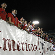 Fans cheer and sing during an international friendly soccer match between Scotland and the United States at EverBank Field on Saturday, May 26, 2012 in Jacksonville, Florida.  The United States won the match 5-1 in front of 44,000 fans. (AP Photo/Alex Menendez)