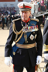 The Duke of Edinburgh attends the Royal Marines 350th Anniversary Beating Retreat at Horse Guards Parade, London.