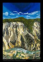 """Yellowstone Canyon 02"", Acrylic on Display Board, 24 x 36 inches."