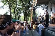 Friday, August 1, 2008; Black Joe Lewis & The Honeybears performs at Lollapalooza 2008..Photo by Bryan Rinnert