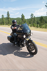 Aidan's Ride to raise money for the Aiden Jack Seeger nonprofit foundation to help raise awareness and find a cure for ALD (Adrenoleukodystrophy) during the annual Sturgis Black Hills Motorcycle Rally. Vanocker Canyon between Sturgis and Nemo, SD, USA. Tuesday August 8, 2017. Photography ©2017 Michael Lichter.