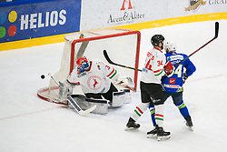 Andrej Hebar during international tournament Euro ice hockey challenge on a friendly game with Hungary, on February 7, 2019 in Bled, Slovenia. Photo by Peter Podobnik / Sportida