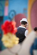 Man in white hat, La Boca, Buenos Aires, Argentina, South America
