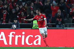 December 23, 2018 - Lisbon, Portugal - Benfica's Brazilian defender Jardel celebrates after scoring a goal during the Portuguese League football match SL Benfica vs SC Braga at the Luz stadium in Lisbon on December 23, 2018. (Credit Image: © Pedro Fiuza/ZUMA Wire)