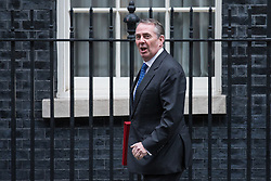 © Licensed to London News Pictures. 14/11/2017. London, UK. Secretary of State for International Trade Liam Fox leaves 10 Downing Street after the weekly Cabinet meeting. Photo credit: Rob Pinney/LNP