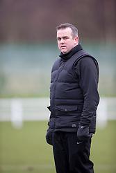 Edinburgh City's manager Gary Jardine. <br /> Edinburgh University 0 v 1 Edinburgh City, Scottish Sun Lowland League game played 14/3/2015 at The University of Edinburgh's Peffermill playing field.