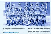 Tidworth military cemetery, Tidworth, Wiltshire, England, UK old photo NCOs from Australia, New Zealand and United Kingdom Tidworth Camp 1916