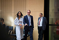 DEU, Deutschland, Germany, Berlin, 21.09.2018: Die Berliner Staatssekretärin Sawsan Chebli und Michael Müller (SPD), Regierender Bürgermeister von Berlin, während einer Sitzung im Bundesrat.