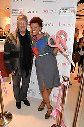 IAN MARSHALL MD of Benefit and GEMMA CAIRNEY at the launch of the Benefit Global Flagship Boutique at 10 Carnaby Street, London on 11th September 2013.