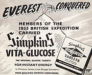 Mount Everest 1953 British first ascent advert - Glucose sweets