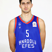 Anadolu Efes's Tarık Sezgun during the 2020-2021 Garanti BBVA BGL Media Day at the Anadolu Efes Sports Hall on February 02, 2021 in İstanbul, Turkey. Photo by Aykut AKICI/TURKPIX