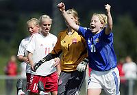 Fotball<br /> Four Nations Tournament Female U17<br /> 3rd place match<br /> Finland v Denmark 2-0 / Finland v Danmark 2-0<br /> 14.05.2006<br /> Foto: Morten Olsen, Digitalsport<br /> <br /> Katariina Henriksson / Ilves (10) celebrating her goal to 2-0