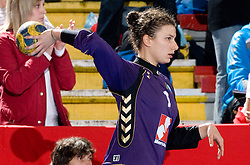 Goalkeeper of Krim Jelena Grubisic at handball match of Round 2 of Champions League between RK Krim Mercator and Aalborg DH, on October 31, 2009, in Arena Kodeljevo, Ljubljana, Slovenia.  Krim won 30:23. (Photo by Vid Ponikvar / Sportida)