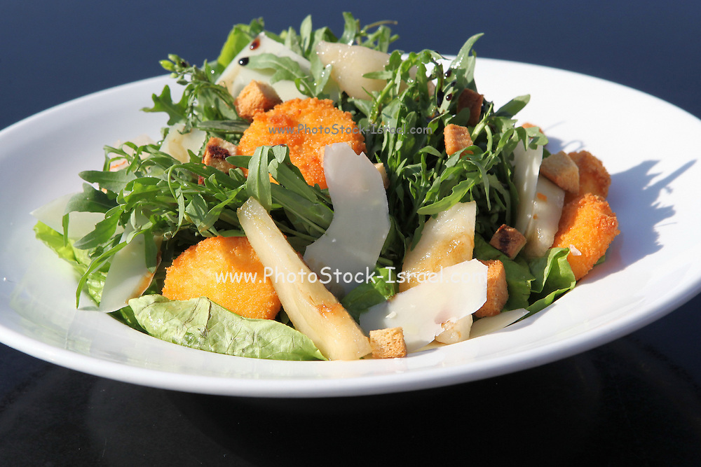 Bowl a trendy helth food salad with fish