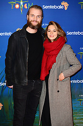 Marius Jensen and Kara Tointon attending the premiere of Cirque du Soleil's Totem, in support of the Sentebale charity, held at the Royal Albert Hall, London.