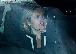 © Licensed to London News Pictures. 13/06/2019. London, UK. Secretary of State for Work and Pensions Amber Rudd arrives at Parliament. She is seen arriving on the day of the first round of the Conservative Leadership ballot. Photo credit: George Cracknell/LNP